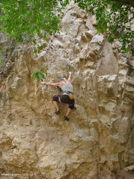 Rock Climbing Photo: Nearing clip 1.