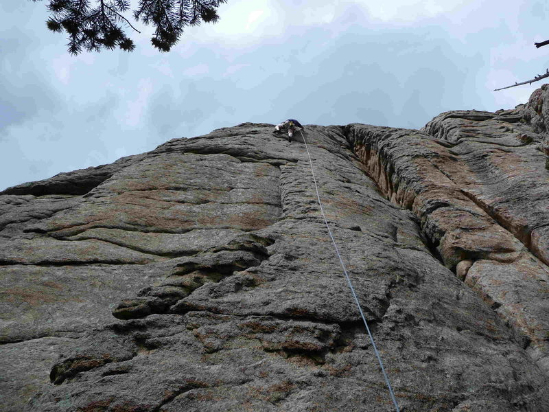 Rock Climbing Photo: Follow the arete up until it peters out in the cra...