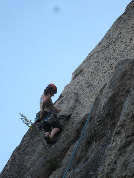 Rock Climbing Photo: Just entering the Beast Flake.