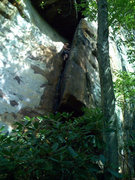 Rock Climbing Photo: One roof down, two to go ... Triple Treat (5.10a),...