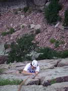 Rock Climbing Photo: Matt crackin' up.