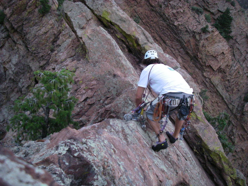 Rock Climbing Photo: Scramble N to saddle and rappel.