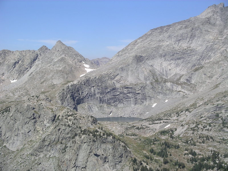 Rock Climbing Photo: View from the side of Mitchell Peak.