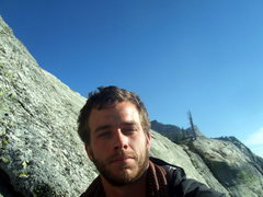 Rock Climbing Photo: David at a belay station in Yosemite.