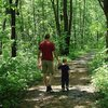 Walking with the boy at Blue Mound SP, Wisconsin.  Cool rock features but kind of crumbly...