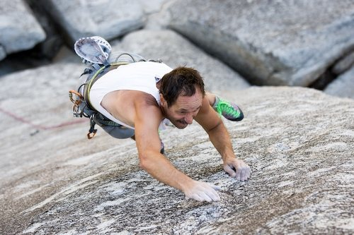 Rock Climbing Photo: Darrell Hensel going for the tick on the Untickabl...