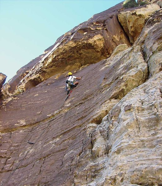 Rock Climbing Photo: The lower section of Chocolate Sunday.  When reach...