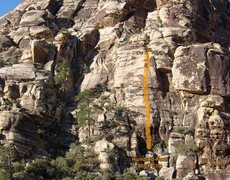 Rock Climbing Photo: The line of Hundred-Foot Stick Clip.