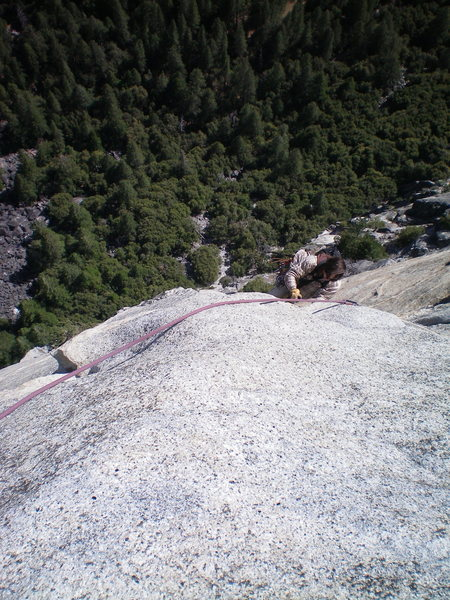 Eric Jummaring to the top of pitch 5