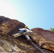 Rock Climbing Photo: The initial flake of Secret Ingredient.