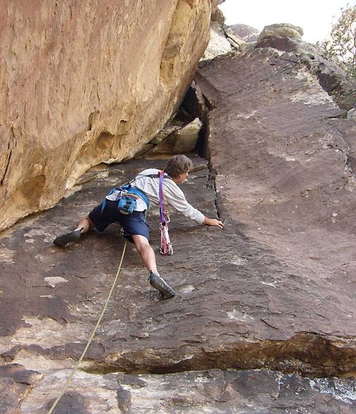 Rock Climbing Photo: Starting the second pitch of Pincushion.
