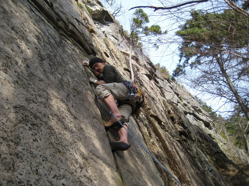 Myself on the finger crack at the bottom of Mandrill.