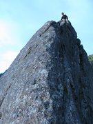 Rock Climbing Photo: Greg atop Like Heaven.