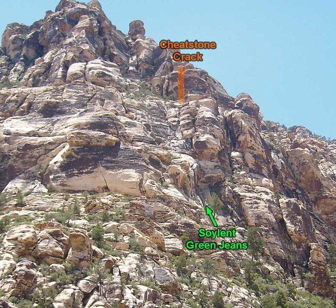 Rock Climbing Photo: The Cheatstone Crack is high above Soylent Green J...
