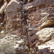 Rock Climbing Photo: Higher in the crack.