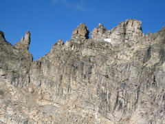 Rock Climbing Photo: 9-1-08: the Queen is the righthand square topped g...