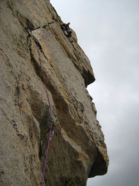Rock Climbing Photo: Brian Verhulst on the 5.10 FA of Queen's Reiche. 1...