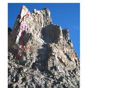 Rock Climbing Photo: Lowe route shown 9-1-08.