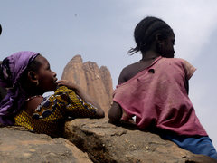 Rock Climbing Photo: 2 girls and the Hand of Fatima
