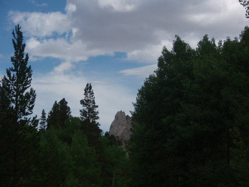 View of the pinnacle from Lake Sabrina
