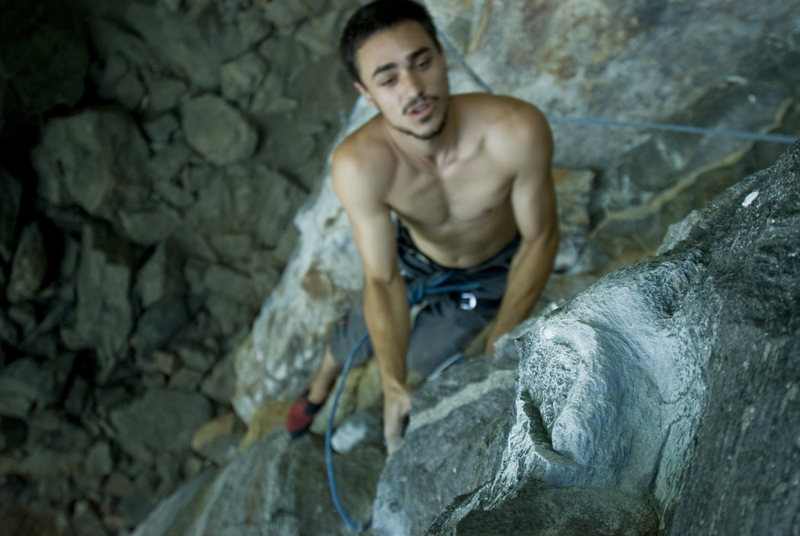Rock Climbing Photo: Walker on the send!! WOOHOO!!
