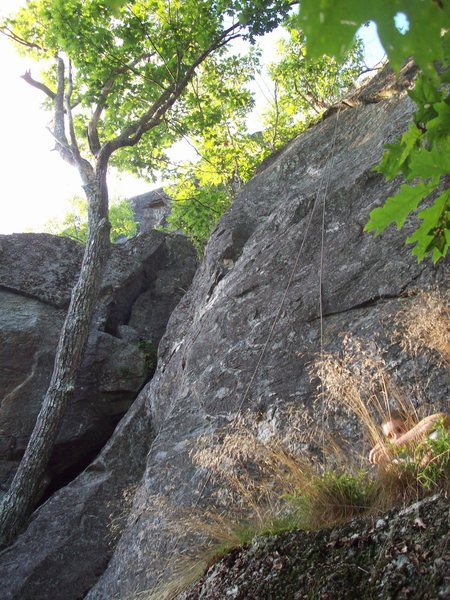 View of the climb