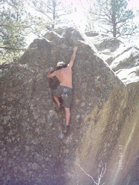 Rock Climbing Photo: Chalk Creek Boulder.