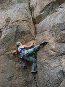Rock Climbing Photo: Really cool crack just before Trad Rock.  There ar...