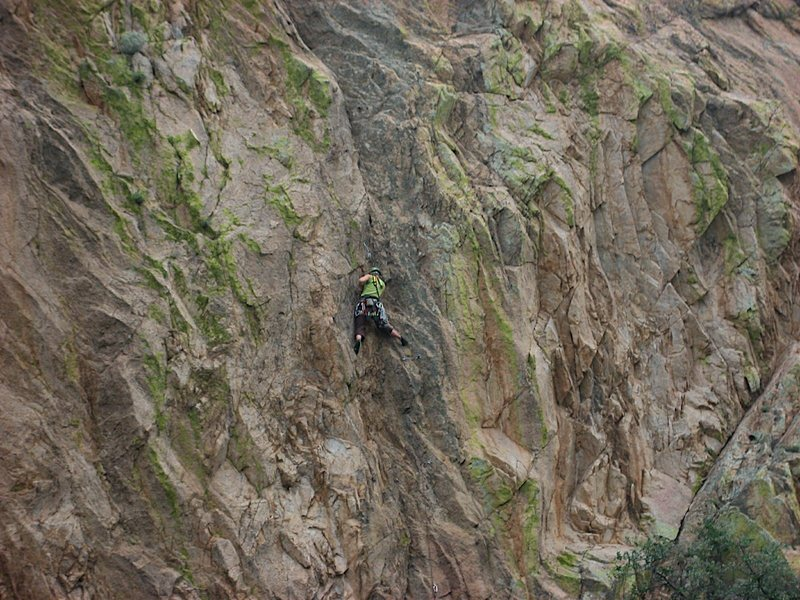 Rock Climbing Photo: Mike Diesen's 5.10a route called Pop Rocks way rig...