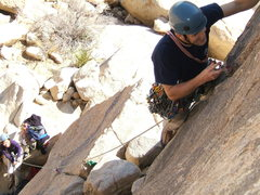 """Rock Climbing Photo: Cory, belayed by his wife Thy, on """"Life's a B..."""