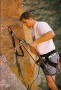 Rock Climbing Photo: Theron hiemstra on the third pitch of west face mo...