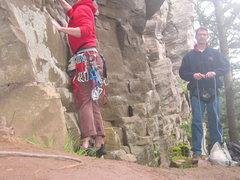 Rock Climbing Photo: Route finding Ozone, Washington