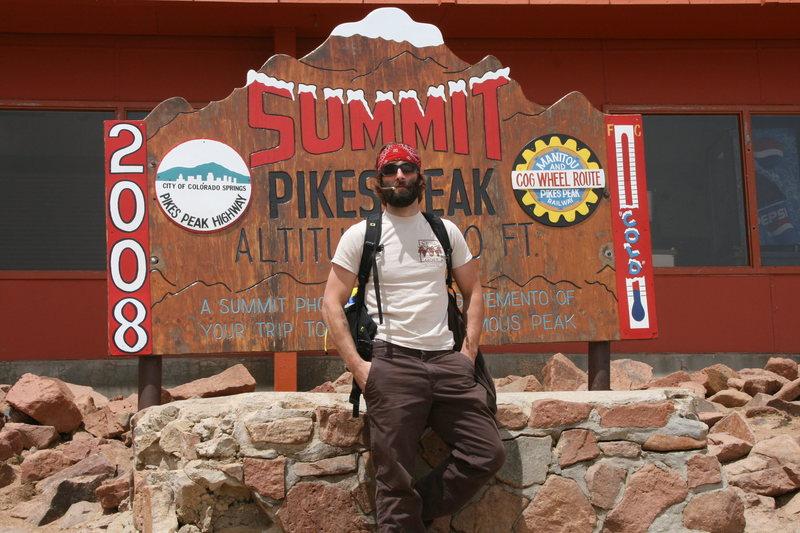 Summit Pikes Peak elev. 14,110 ft