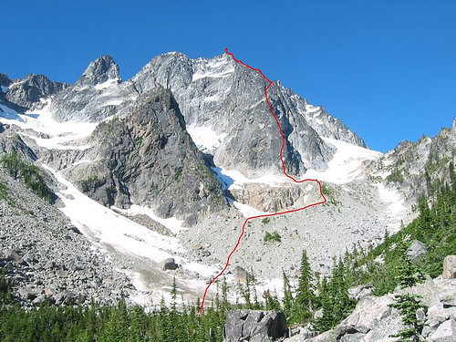 Rock Climbing Photo: This shows the approach and start.