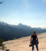 Rock Climbing Photo: Yosemite-- top of two-pitch trad route we did the ...