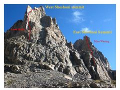 Rock Climbing Photo: The twin towers of Shoshoni w/ Mass Wasting to the...