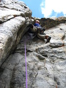 Rock Climbing Photo: Brian Verhulst starting P2 on high quality 5.9. th...