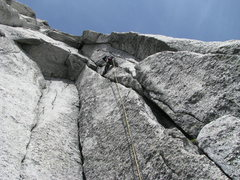 Rock Climbing Photo: Pitch 5 has splitter cracks to a wild roof. Photo ...