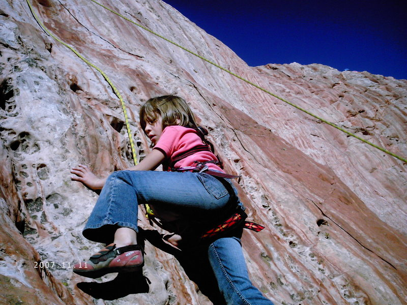 Maya girl topropin' on Kindergarten Rock.