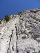 Rock Climbing Photo: Me on pitch 2 of Giggles.  Jam, stem, or smear?