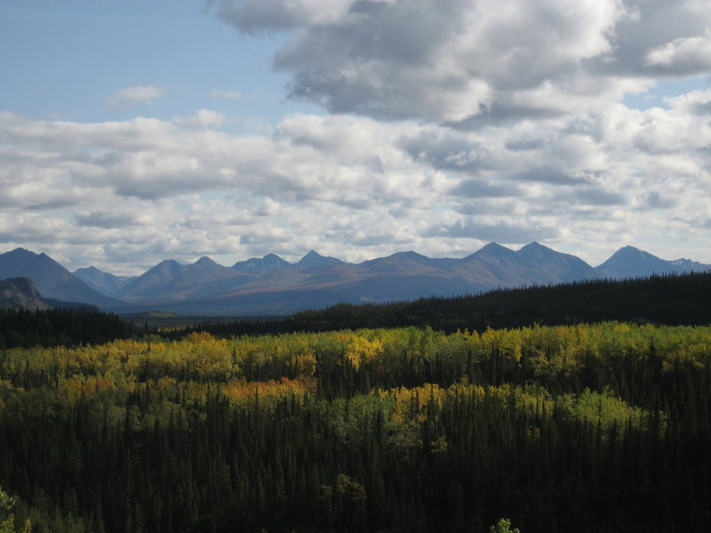 Fall in the Alaska Range