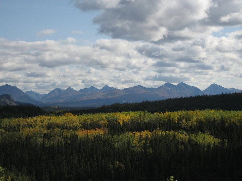 Fall in the Alaska Range