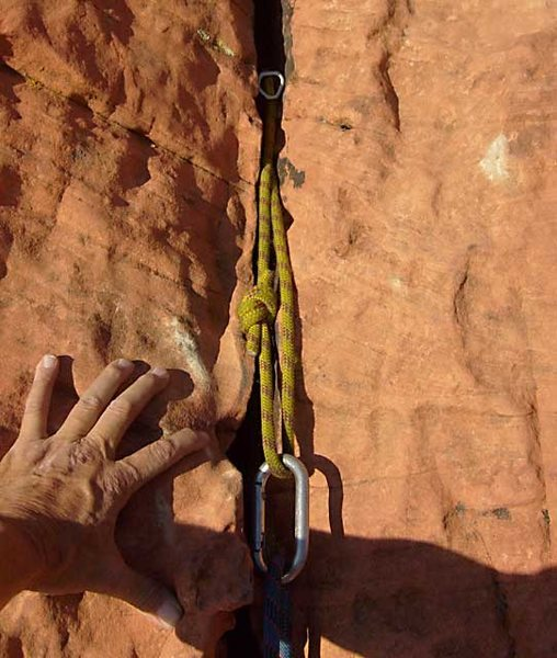 Bonus on the second pitch-- the traveling carabiner gets used again on a perfect hex placement.