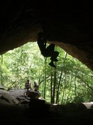Rock Climbing Photo: Awesome cave pic.