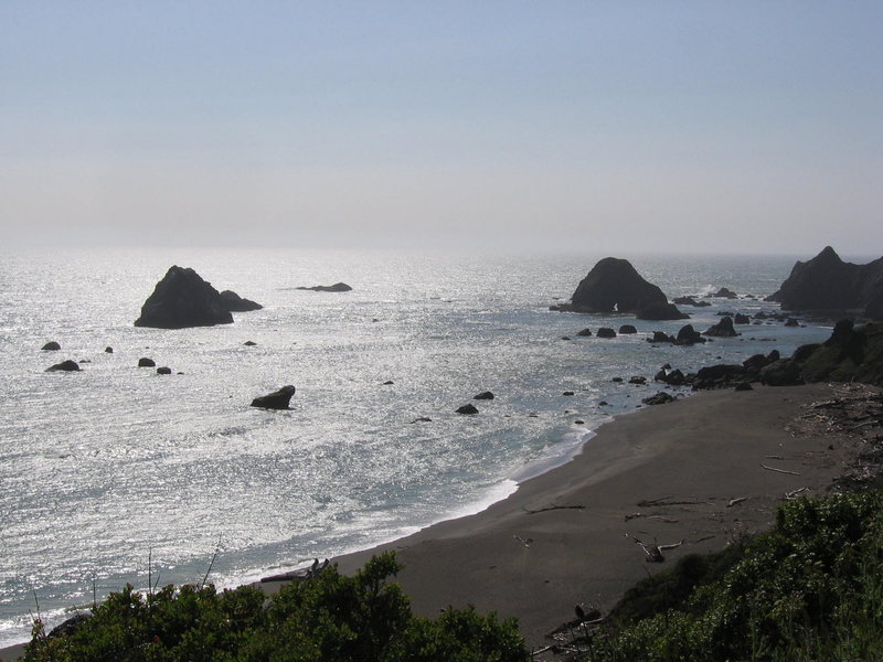 Rock Climbing Photo: A shot of the coast. The rocks are cool, too bad y...