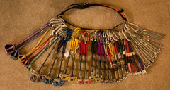 Rock Climbing Photo: My rack in early September 2008 after buying 9 mor...