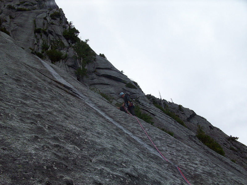 Knob climbing on pitch 3.