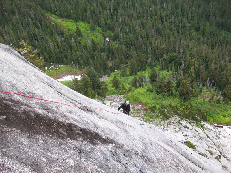 More knob climbing on pitch 4.