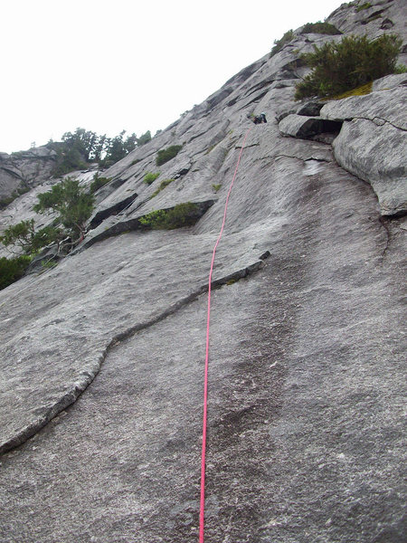 Pitch 5 - the climbing steepens here.