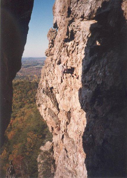 Rock Climbing Photo: Mark Pell on Secret Service.  Double Naught Spy is...